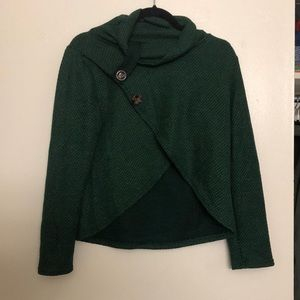 Jackets & Blazers - Dark Green shawl w/ buttons